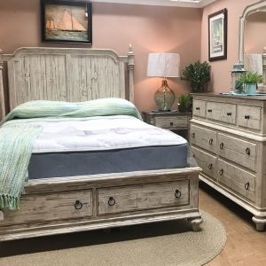 weathered rustic bedroom set