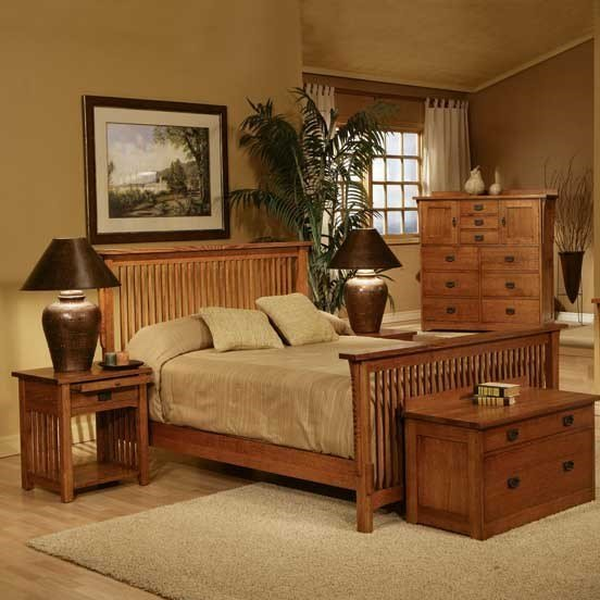 Mission style bedroom set fireside furniture for Looking bedroom furniture