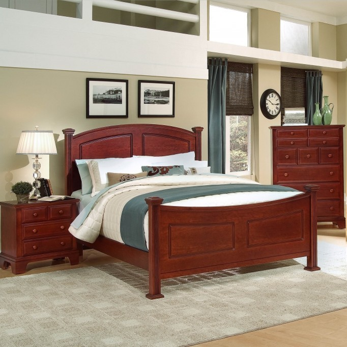 birch bedroom set with oversized drawers, made in america