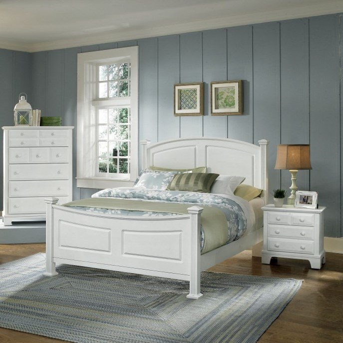 exciting country style bedroom furniture | Country White Bedroom Set - Fireside Furniture